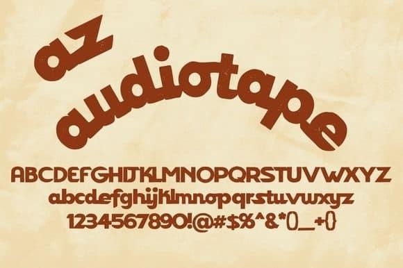 Download AZ Audiotape font (typeface)