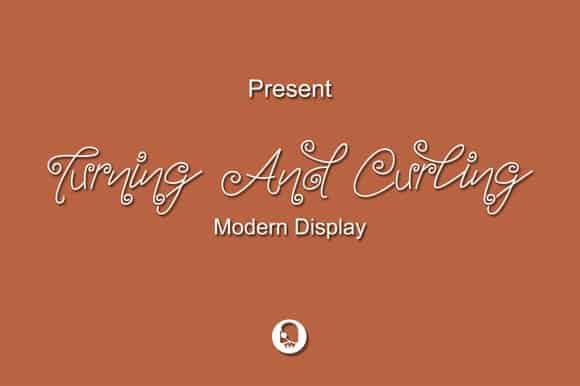 Download Turning And Curling font (typeface)