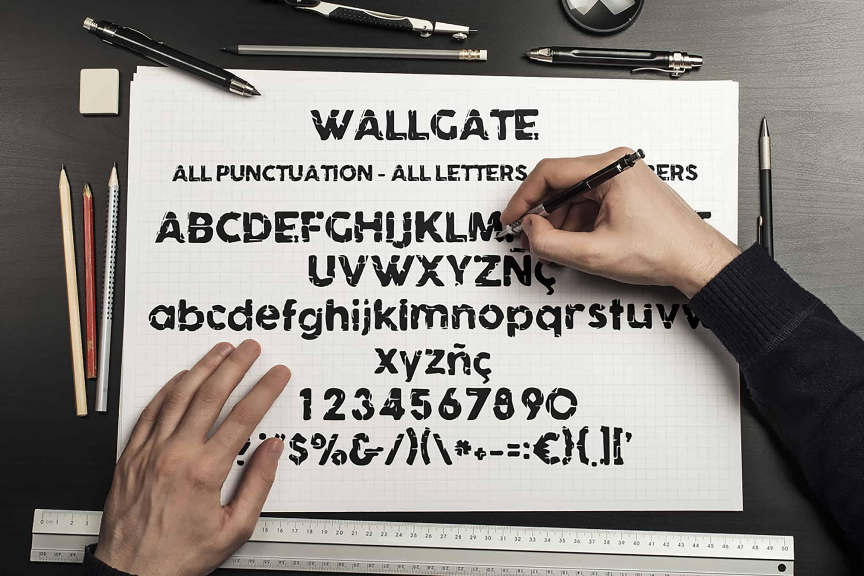 Download Wallgate font (typeface)