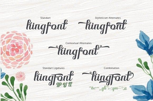 Download Kingfont Script font (typeface)