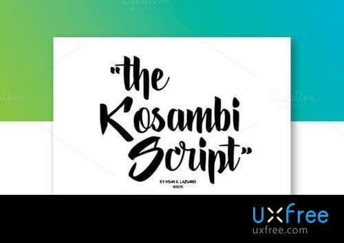 Download Kosambi Script font (typeface)