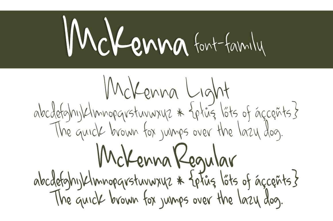 Download McKenna font (typeface)