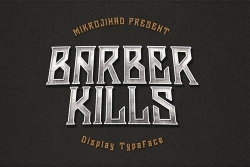 Download Barberkills font (typeface)