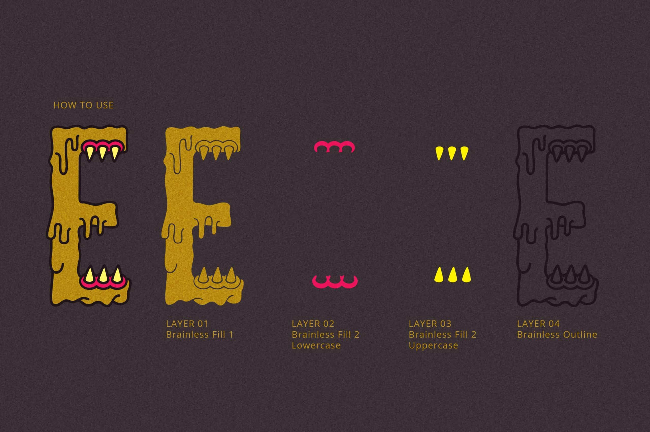 Download Brainless font (typeface)