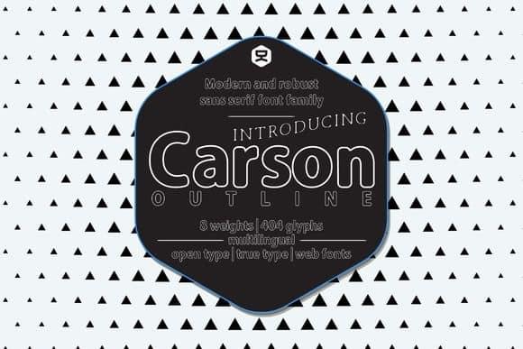 Download Carson Outline font (typeface)