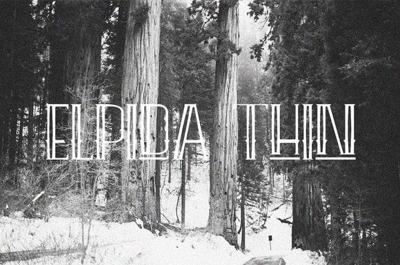 Download Elpida Thin font (typeface)