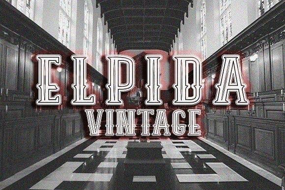 Download Elpida Vintage font (typeface)