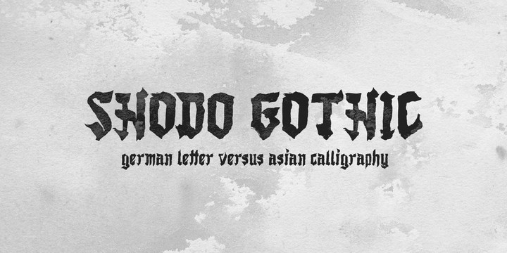 Download Shodo Gothic font (typeface)