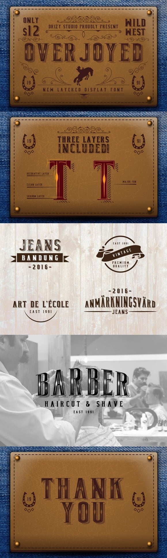 Download Overjoyed font (typeface)