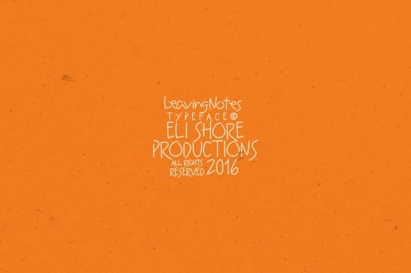 Download Leaving Notes Typeface font (typeface)