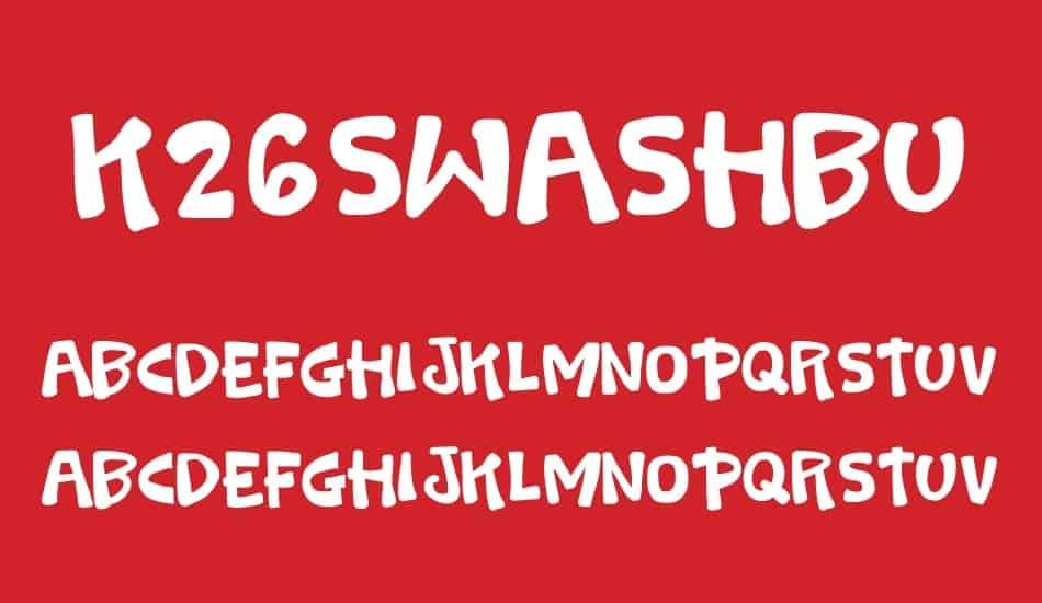 Download K26 Swashbuckle font (typeface)