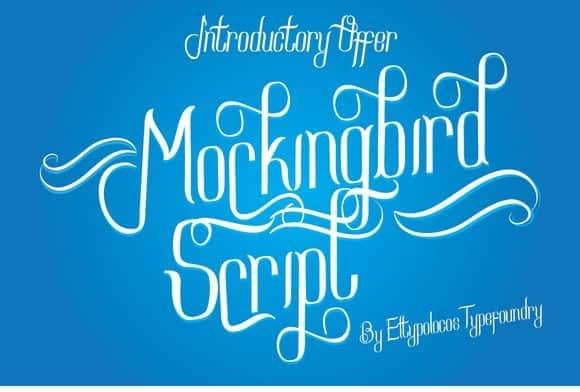 Download Mockingbird Script font (typeface)