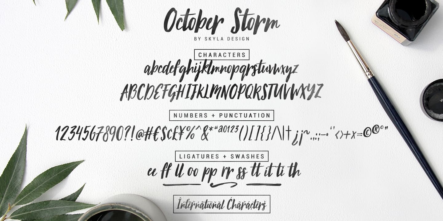Download October Storm font (typeface)