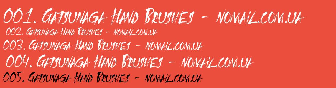Download Gatsunaga Hand Brushes font (typeface)