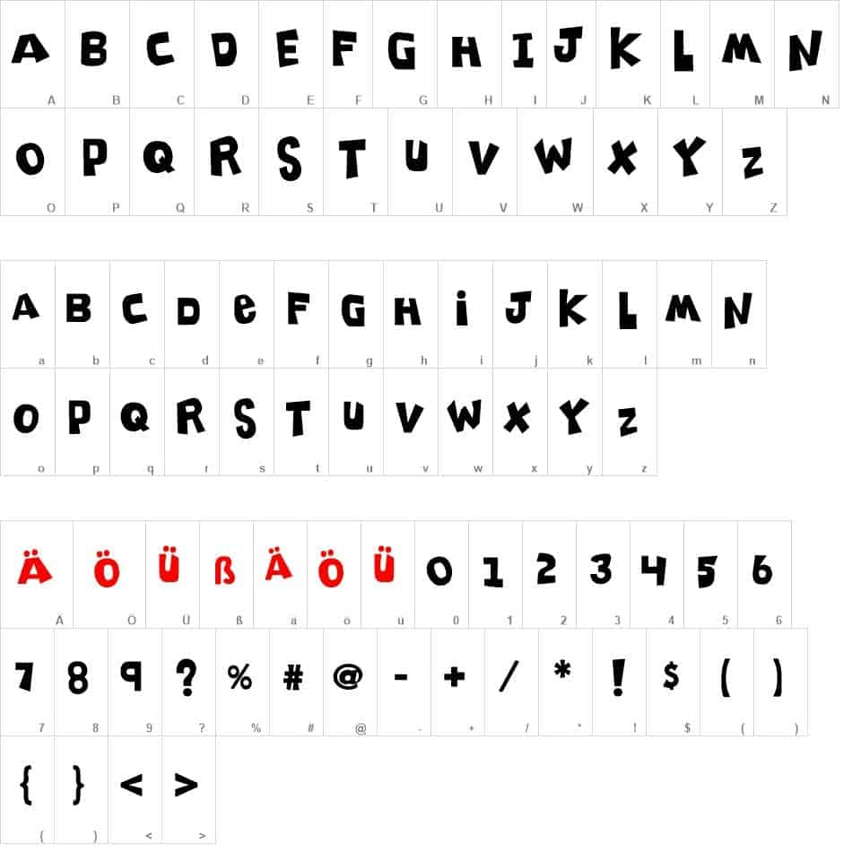 Download K26 Clippity Snippity font (typeface)