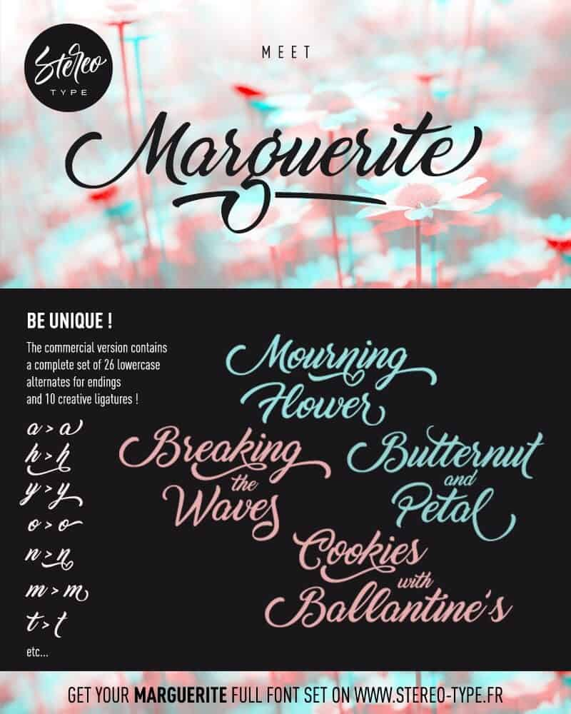 Download Marguerite font (typeface)