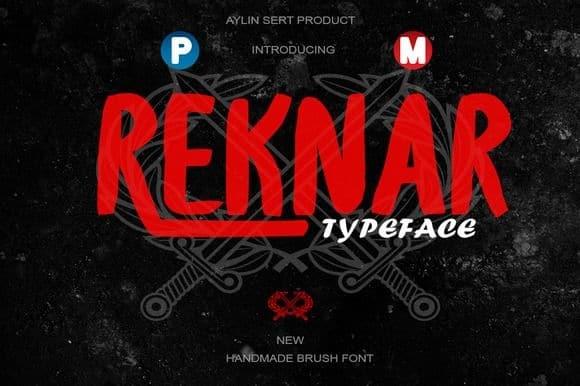 Download Reknar font (typeface)