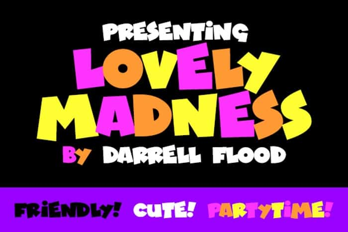 Download Lovely Madness font (typeface)