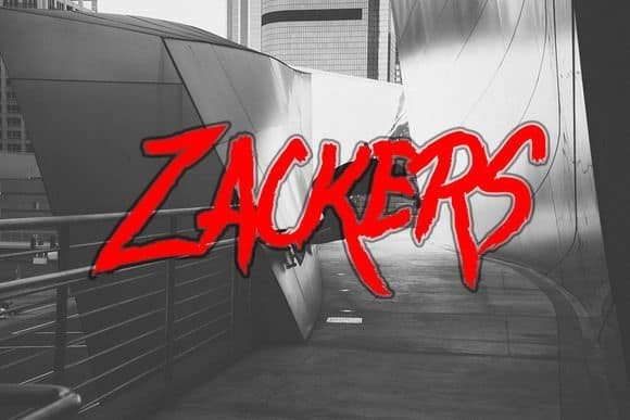 Download Zackers font (typeface)