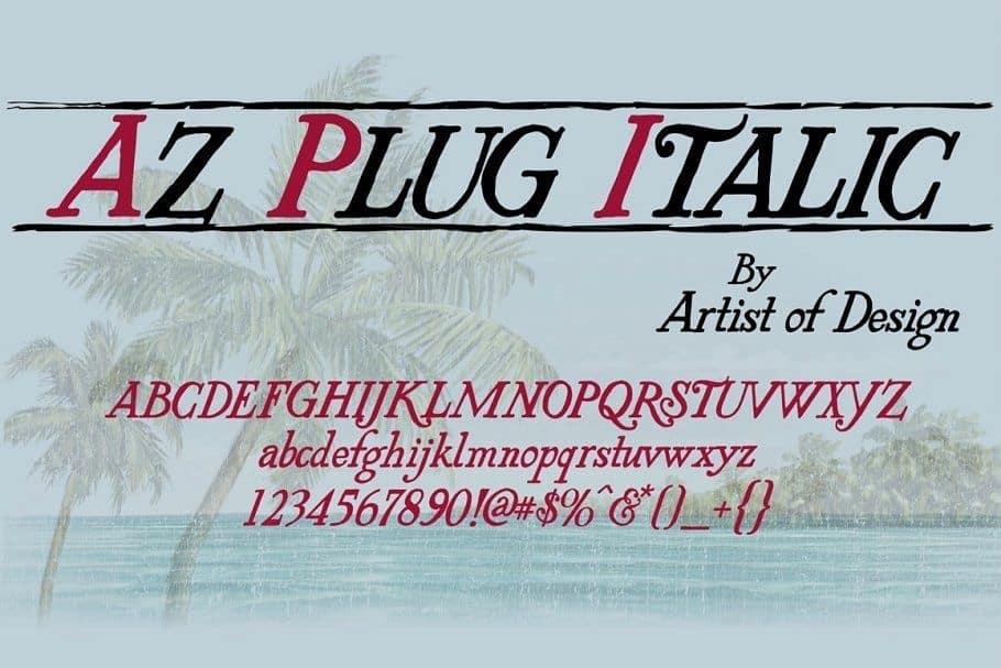 Download AZ PlugItalic font (typeface)