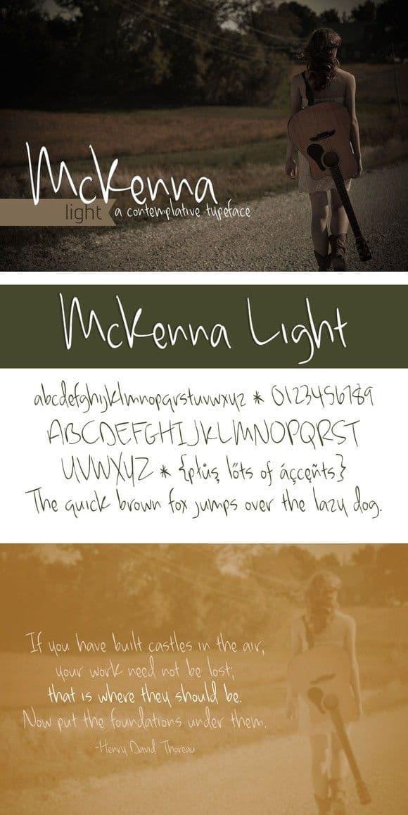 Download McKenna Light font (typeface)