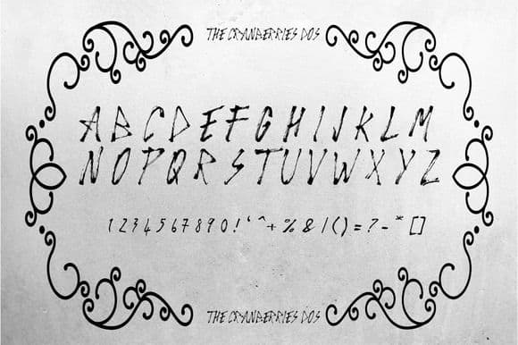 Download The Cranberries font (typeface)