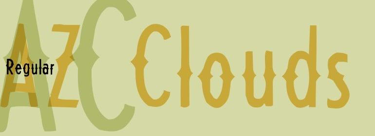 Download AZ Clouds font (typeface)