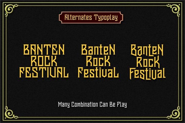 Download Banten Unfamous 2 font (typeface)