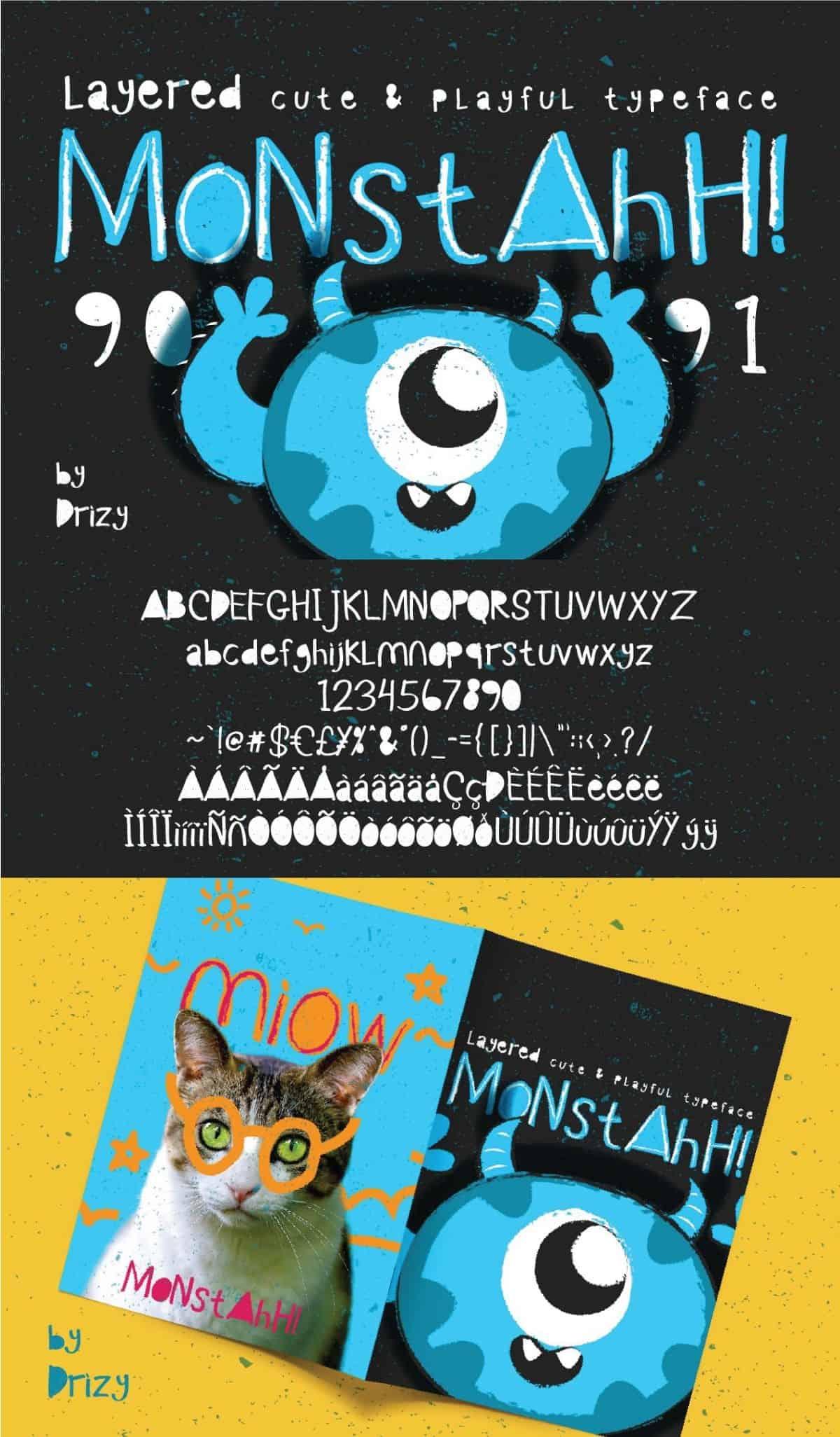 Download Monstahh font (typeface)