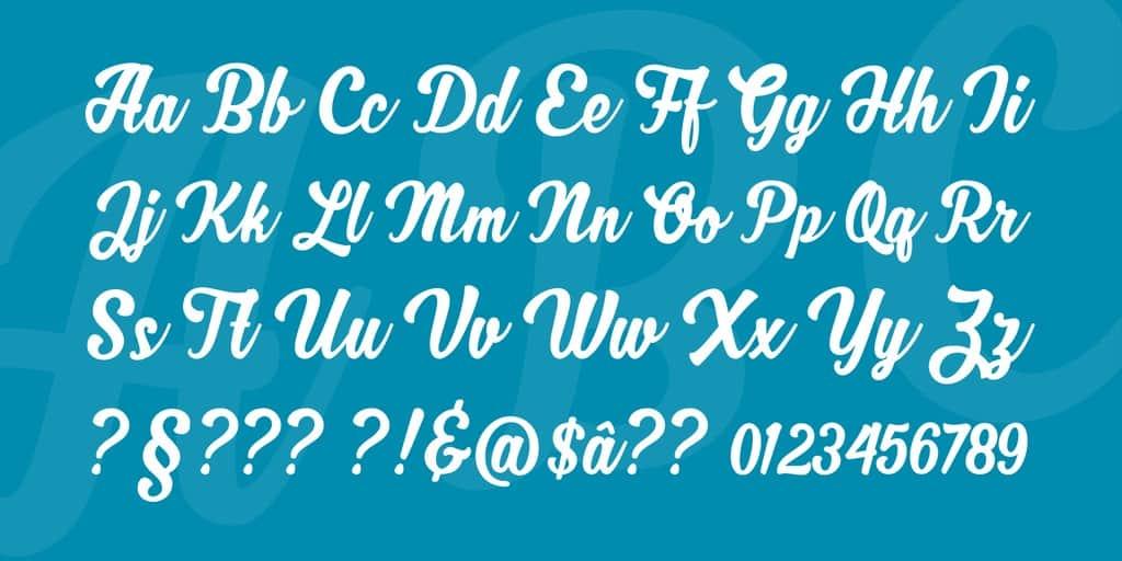 Download Zhafira Script font (typeface)