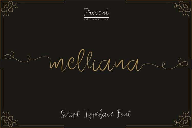 Download Melliana Script font (typeface)