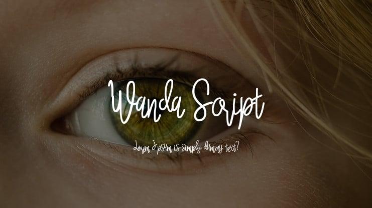 Download Wanda Script font (typeface)