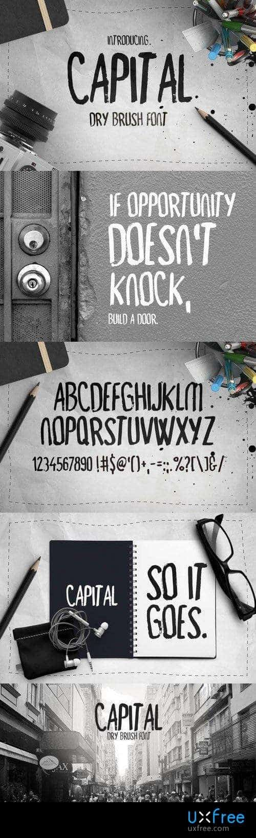 Download Capital Dry Brush font (typeface)