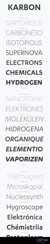 Download Karbon font (typeface)