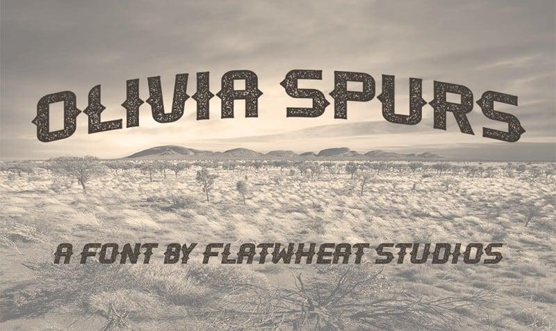 Download OliviaSpurs font (typeface)