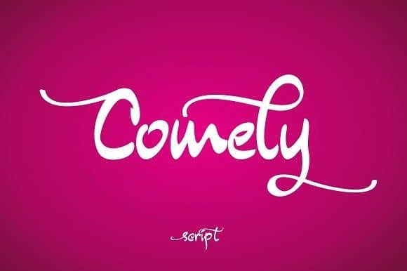 Download Comely font (typeface)