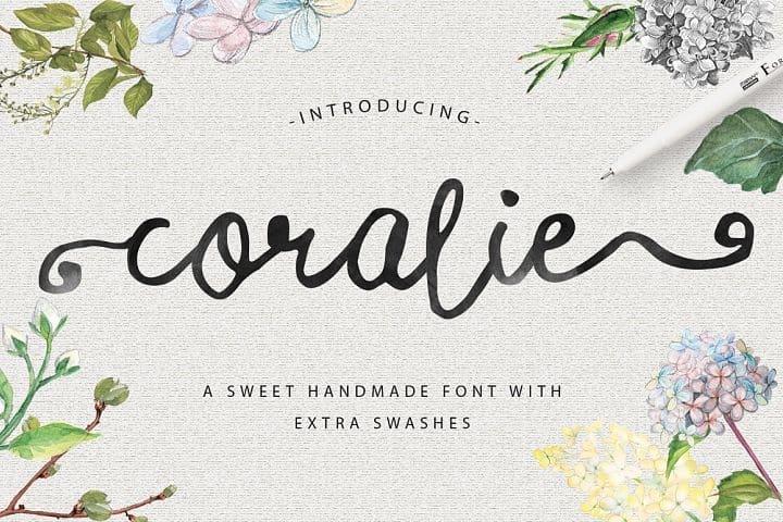Download Coralie font (typeface)