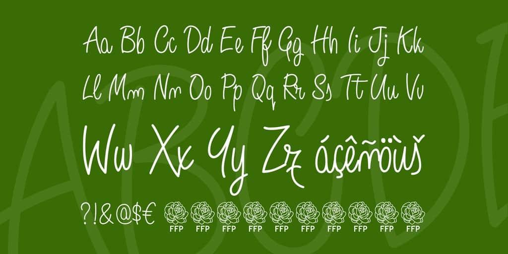 Download Angelique Rose font font (typeface)