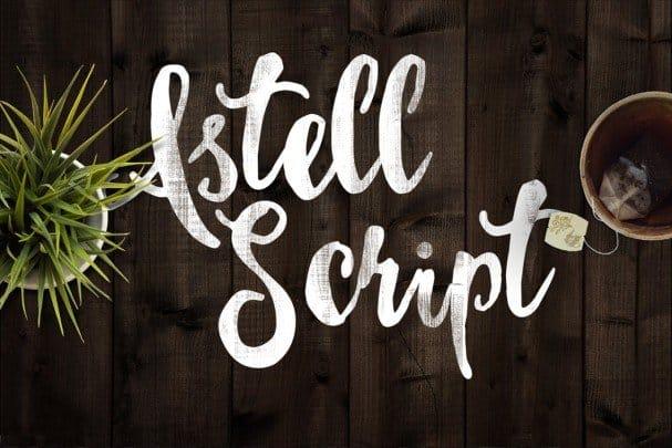 Download Astel Script font (typeface)