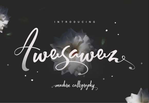 Download Awesawez font (typeface)