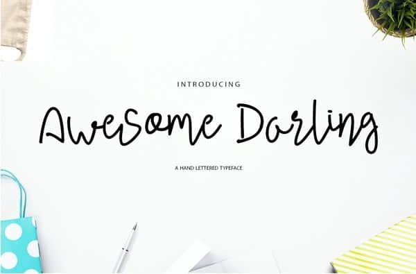 Download Awesome Darling font (typeface)