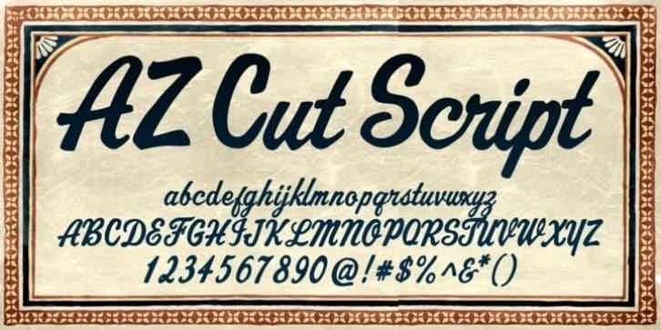 Download AZ Cut Script font (typeface)