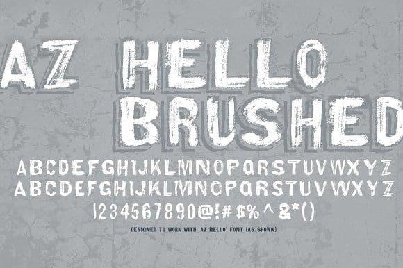 Download AZ Hello font (typeface)