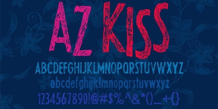 Download AZ Kiss font (typeface)