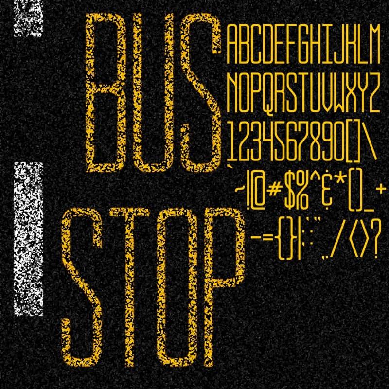Download Bus Stop font (typeface)