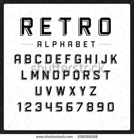 Download AZ Retro font (typeface)