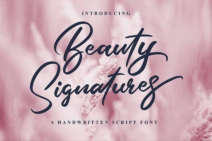 Download Beauty Signature font (typeface)