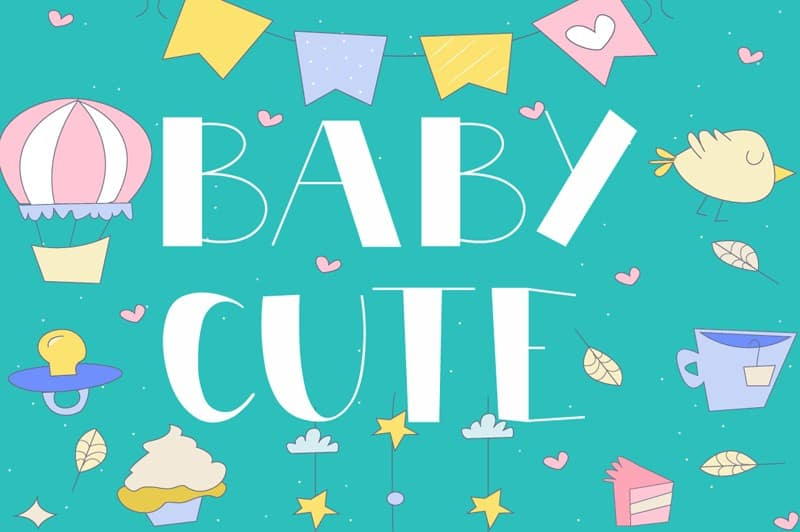 Download Cute Baby font (typeface)
