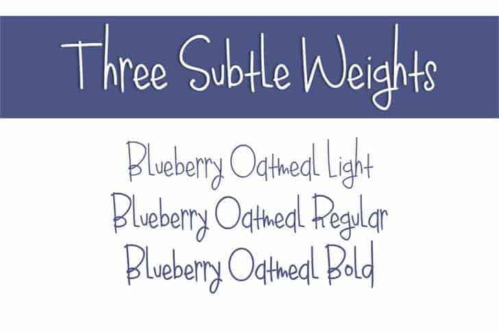Download Blueberry Oatmeal Regular font (typeface)