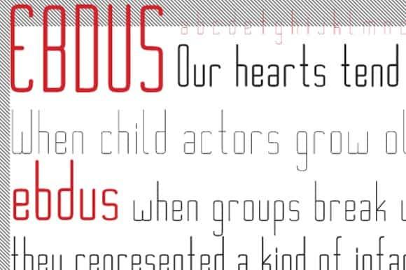 Download Ebdus Family font (typeface)
